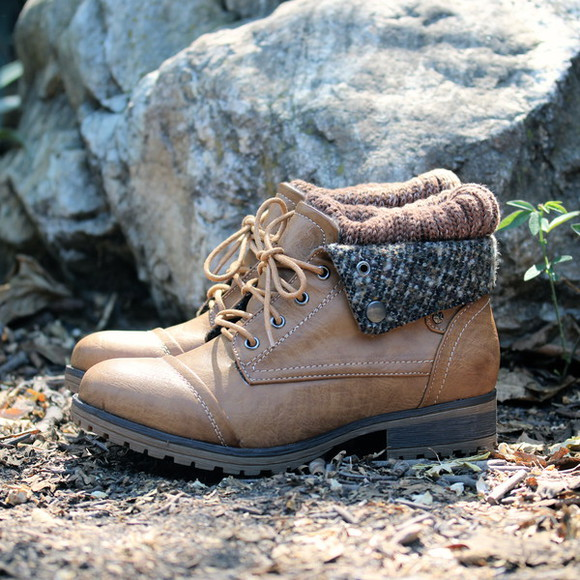 lace up fabric collar shoes boots sweater boots socks cozy vintage inspired rugged soles sole work boots winter outfits fall outfits must have