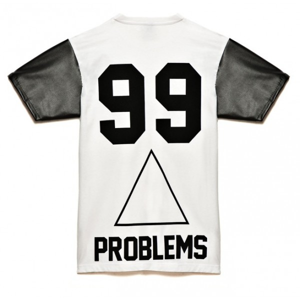 Bbp 99 problems leather sleeve t
