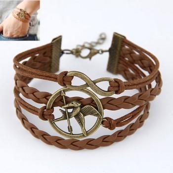 Hunger game infinity brown bracelet — sister vintage