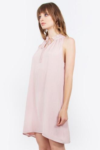 dress pink blush dress soft sleeveless bikiniluxe