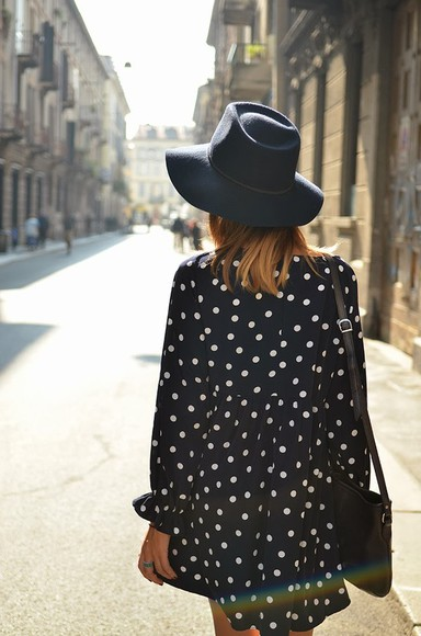black bag bag dots dress dots black and white dress hat black the petticoat dress hat