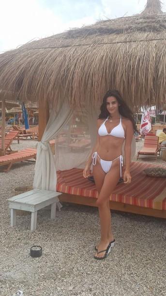 swimwear white bikini hot hot bikini bottoms seductive adjustable bikini sexy beach vintage bikini