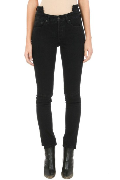 jeans cropped high black