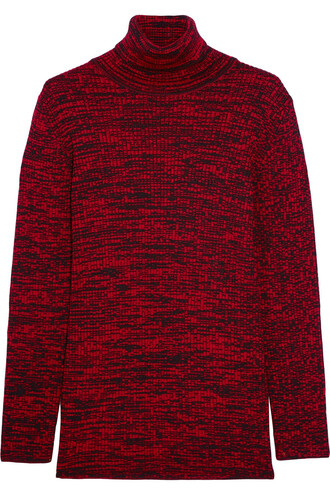 sweater turtleneck turtleneck sweater wool burgundy red