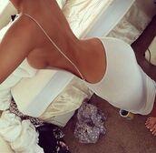 dress,white classy,white dress backless,blouse