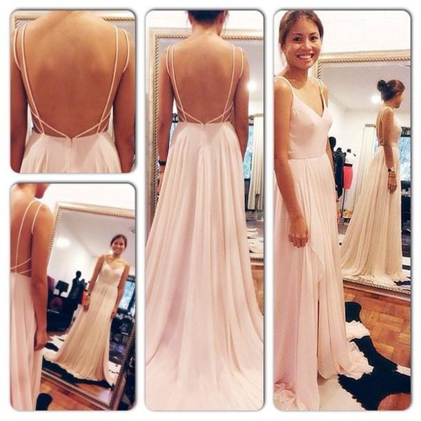 Dress backless dress open back maxi dress wedding for Long dress for wedding reception