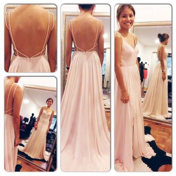 Dress backless dress open back maxi dress wedding for White after wedding party dress
