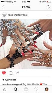 jewels,bracelets,crystal gloves