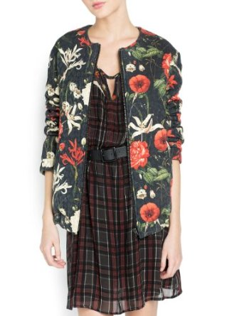 Amazon.com: MANGO Women's Floral Print Bomber Jacket: Clothing