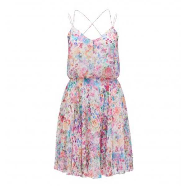 floral dress summery dress pink dress purple dress floral dress