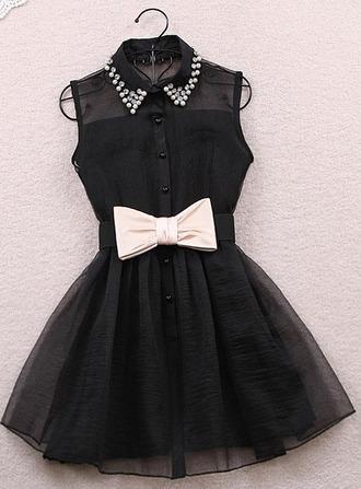dress little black dress noeud