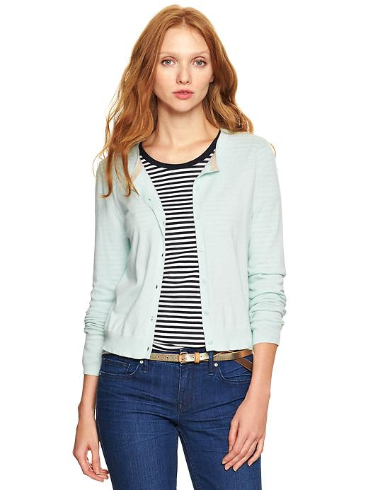gap luxlight cardigan - soothing sea
