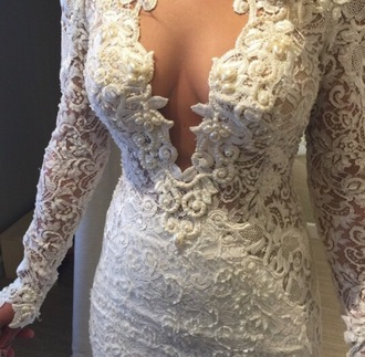 dress white pearl design fashion cute white dress lace the most popular dresses lace dress white lace dress lace wedding dress