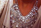 jewels,rhinestones,diamonds,silver,pretty,necklace,big,chunky,jewelry,gorgeous