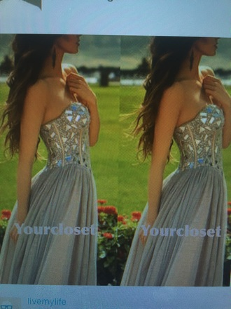 dress taupe beaded prom dress corset dress