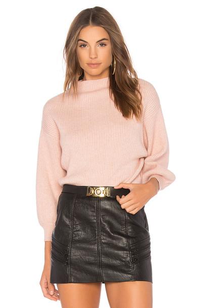 Line & Dot sweater pink