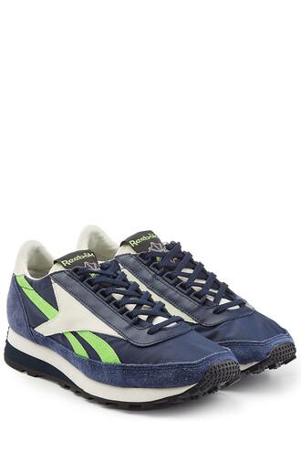 sneakers. sneakers suede aztec blue shoes