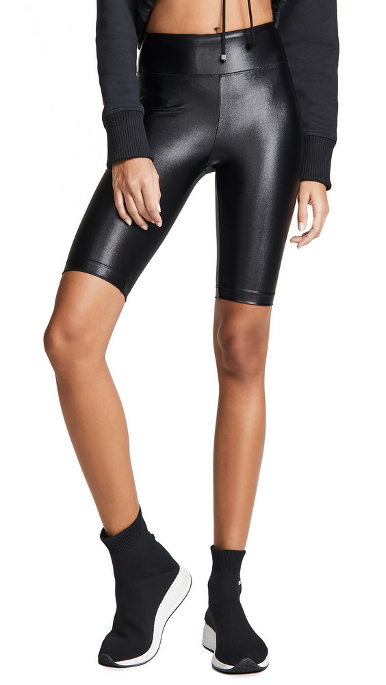 KORAL ACTIVEWEAR High Rise Infinity Shorts in black