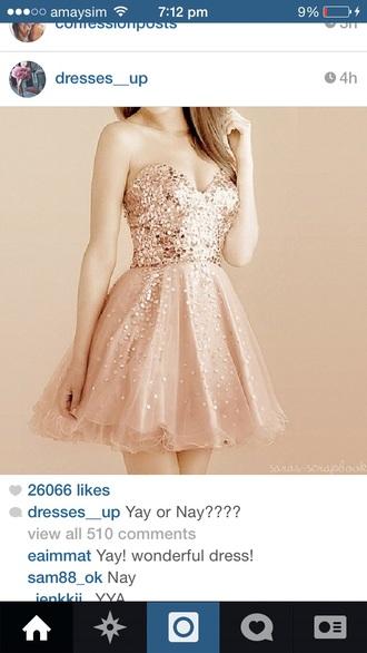 flowy sparkly glitter strapless