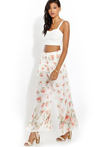 Soft Floral Tulip Pants | FOREVER21 - 2000059733