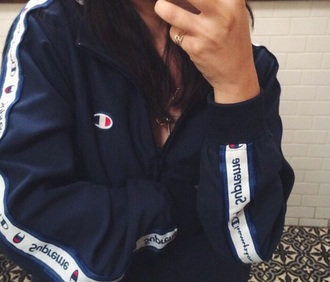 black jacket blue jacket supreme jacket supreme jacket navy champion blue white tumblr blvck instagram dope pretty swag urban outerwear blackfashion black sportswear windbreaker cute clothes fashion nike iphone lovely pepa style scrapbook stylish style