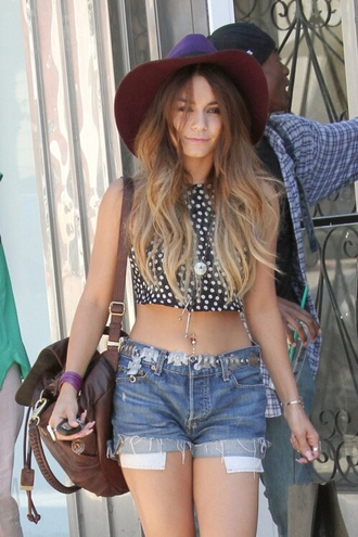 tank top coachella festival vanessa girl flowers shorts t-shirt vanessa hudgens belt bag