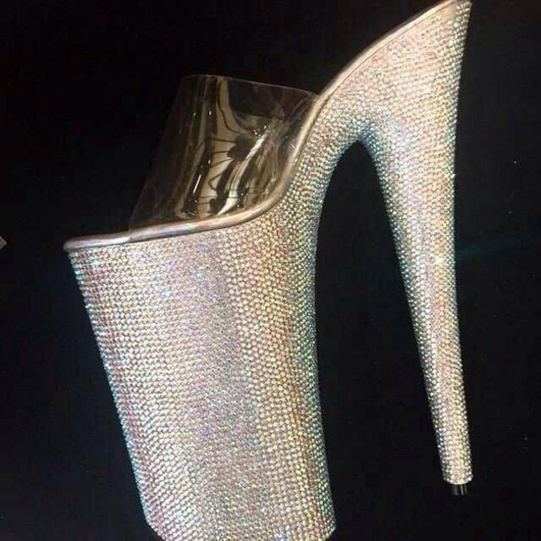 shoes diamond heels