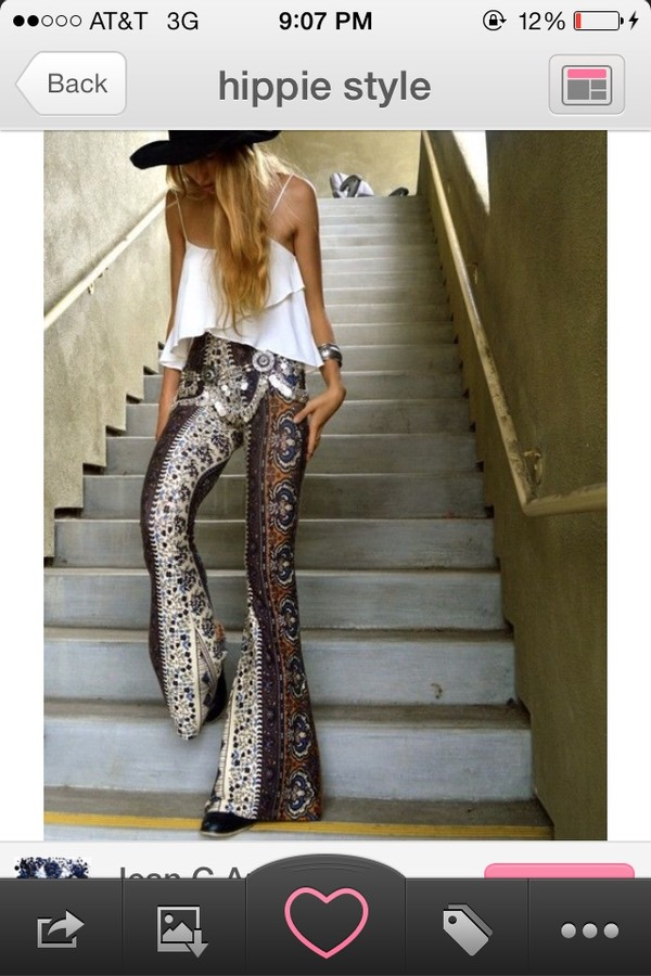 pants hippie hippie chic palazzo pants blouse