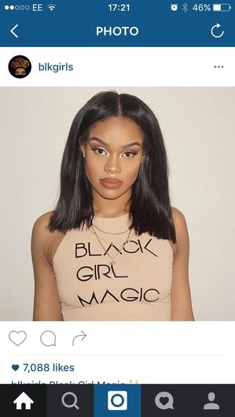 shirt nude top black girls killin it nude sleeveless top beige