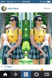 blouse,top,skirt,sunglasses,katy perry