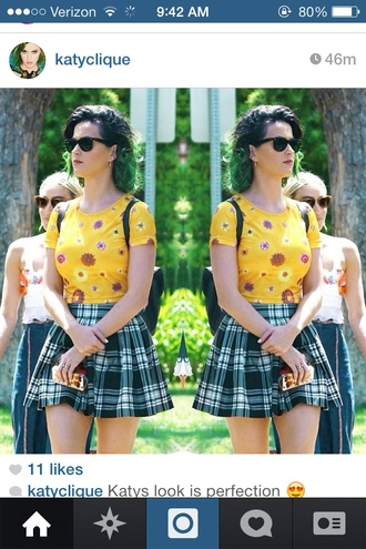 katy perry sunglasses blouse top skirt