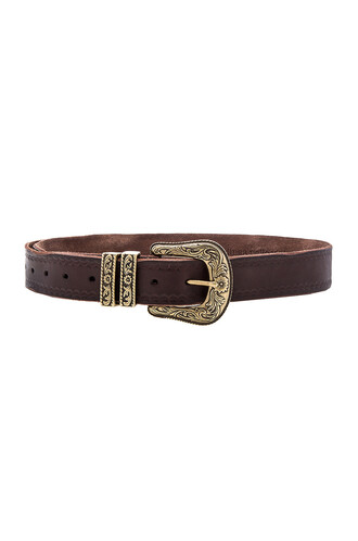 vintage belt brown