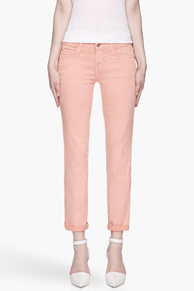 Mother Peach The Rascal Cuff Jeans for women | SSENSE