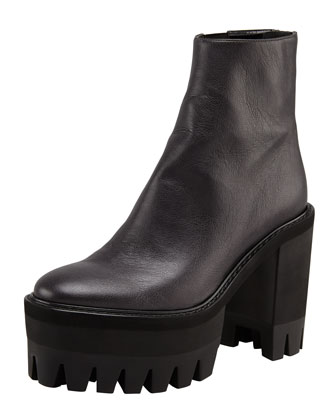 Stella McCartney Maxi-Tred Platform Ankle Boot, Black - Bergdorf Goodman