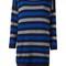 Twin-set striped maxi pullover dress, women's, size: medium, blue, polyamide/viscose/wool/polyamide