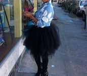 skirt,black,dress,tulle skirt,punk rock