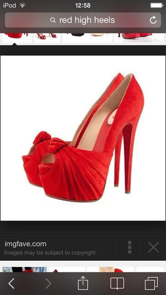 shoes ariana grande red high heels