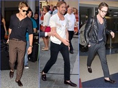 sunglasses,ryan gosling,shades,menswear,loafers,leather jacket