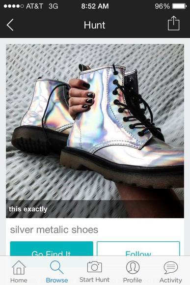 metallic shiny boots