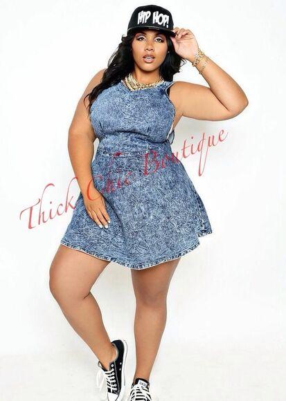 denim dress thick girls denim skater dress