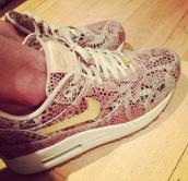 shoes,nike airs,snake print