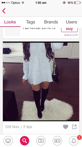 sweater knitwear dress oversize sweatshirt grey sweatshirt dress