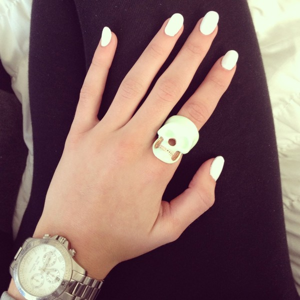 jewels ring white nails jewelry urban streetstyle
