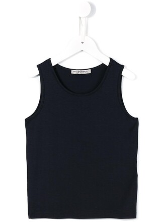 top sleeveless top girl sleeveless toddler blue