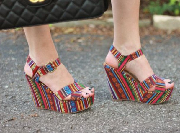 shoes high heels native american red