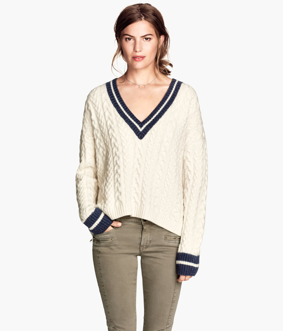 H&m pullover mit zopfmuster 39,99