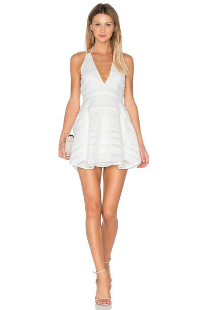 Finders Keepers dress flare dress flare fit white