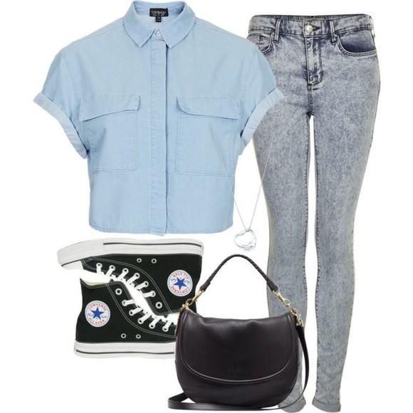 blue shirt button up shirt