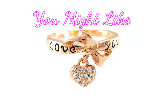 jewels diamonds ring love you pendant rose heart crystal