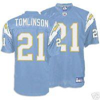 new style 9f325 eeb11 ladainian tomlinson powder blue chargers jersey